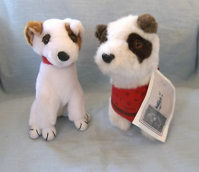 2 Small Plush Jack Russell Terriers, Wells Fargo Jack W/Tag and His Friend
