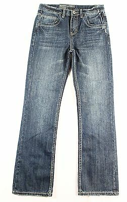 Silver NEW Blue Girl's Size 14 Zane Boot Cut Seamed Stretch Jeans $49 #172