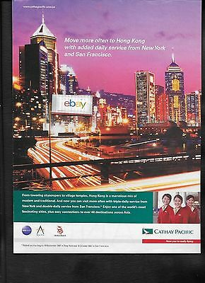 Cathay Pacific Airways Swire Group Twice Daily Sfo/jfk Hong Kong 2007 Ad
