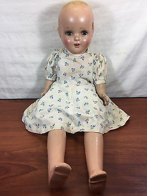 Old House Attic Clean Out Find Vintage Collectible Antique Composite Creepy Doll