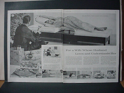 1959 Stauffer Couch Furniture Wife Husband Understand Vintage Print Ad 10711