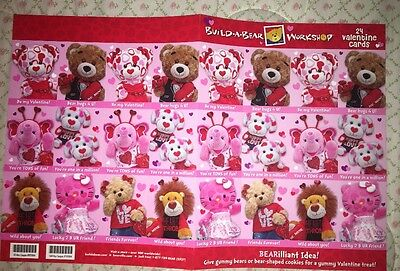 NEW LOT BUILD A BEAR WORKSHOP VALENTINES DAY CARDS Hello Kitty 24 CARDS