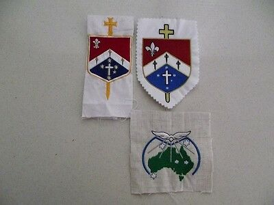 Australian Army Military Ordinariate Chaplain Cloth Emblems x 3