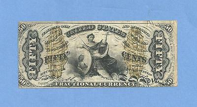 FR 1362 Third Issue 50 Cents Justice Fractional Currency Nice Very Fine