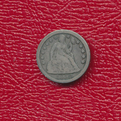 1850 Seated Liberty Silver Dime **nice Circulated Dime** Free Shipping!
