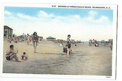Wilmington Beach, Bathers at Wrightsville Beach, 1920's