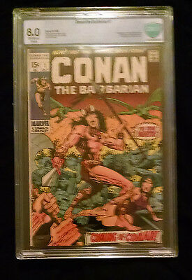 1970 Marvel Conan The Barbarian #1  CBCS 8.0 Off White to White Pages