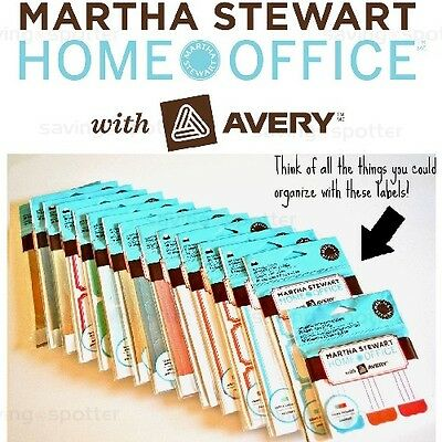 Martha Stewart Home Office with Avery Assorted Labels Stickers & Decals