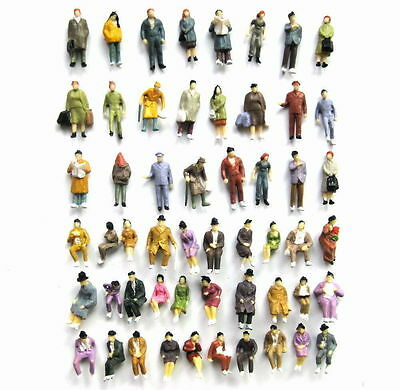 P8702 108pcs 1:87 Well Painted Figures Seated  Passenger HO Scale