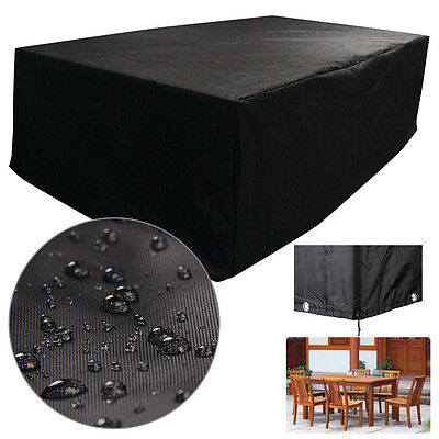 New Large Furniture Cover Outdoor Garden Waterproof Rattan Cube 6 Seater UK