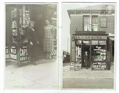 Shop Postcards Corner Of St Mary's & Guildford Road Southsea Hants Real Photos