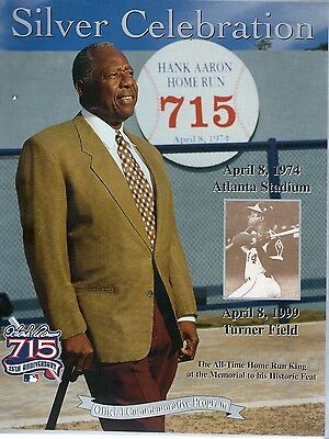 HANK AARON 25th ANNIVERSARY OFFICIAL COMMEMORATIVE PROGRAMME APRIL 1999