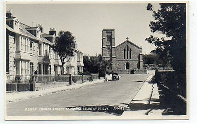 """""postcard Church Street,st.mary's,isles Of Scilly,by Judges"""""