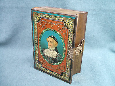 "Scarce Antique Peek Frean London ""Book"" Biscuit Tin 1895"