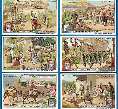 Set Of 6 Pretty French Liebig Cards - Life In Bulgaria - C1910