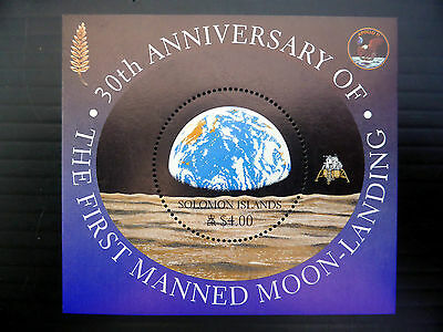SOLOMON ISLANDS Wholesale $4 Moon Landing Apollo 11 M/Sheet x 50  FP1068