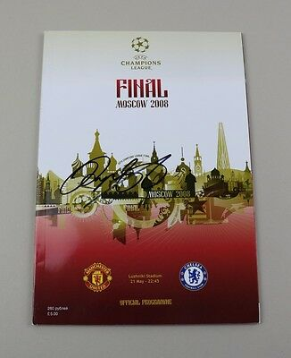 Ryan Giggs Signed Moscow 2008 Champions League Final Man Utd Programme COA