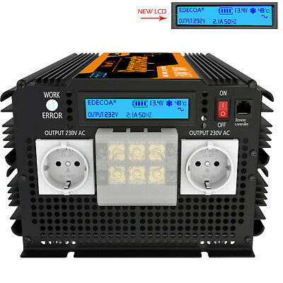 3500W 7000W Inverter 12V 240V Pure Sine Wave With Multifunction LCD Display