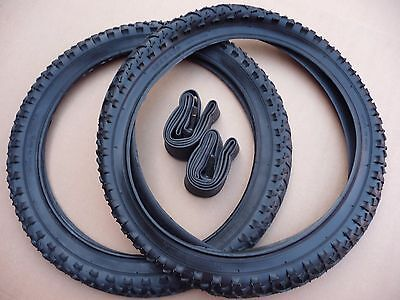 "Pair 18"" TYRES Junior Bicycle BMX Cycle Bike option to add innertubes 47-335"