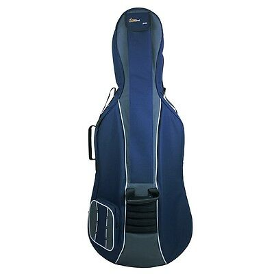 Tom and Will 4/4 Size Padded Cello Bag - Navy & Grey