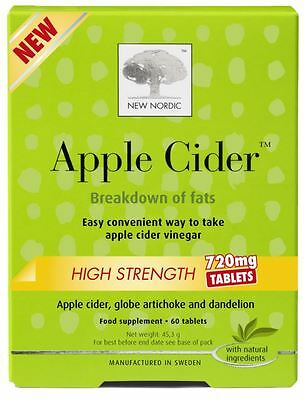 New Nordic Apple Cider High Strength 720mg - 60 Tablets