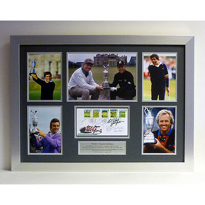The Open – Display signed by Ballesteros, Nicklaus, Player, Normal & Jacklin