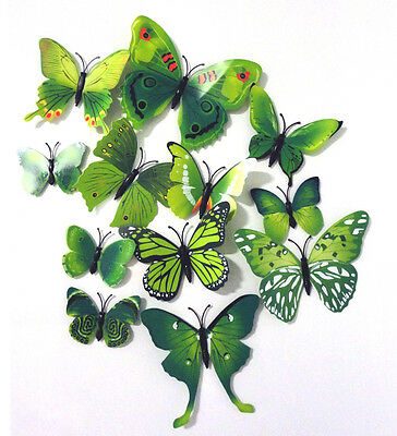 ZPs Butterfly Insect 3D Magnetic Fridge Magnets Beautiful Flying Insects x 12