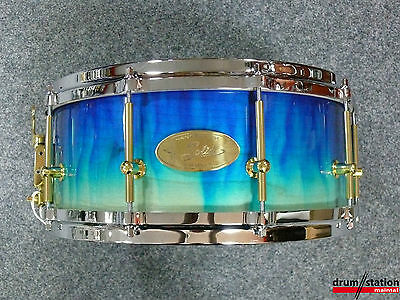 """Handschuh Maple Air Ply Snaredrum in """"Blue Flame High Gloss""""  -  14x6"""""""