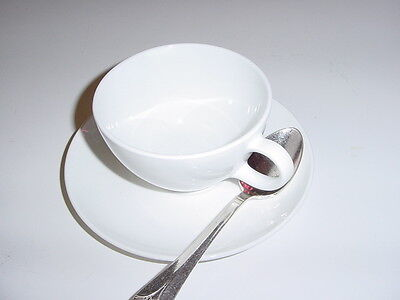 SS UNITED STATES LINES   China Cup, Saucer, & Silver Spoon  /  New/Old Stock