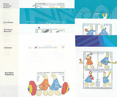 Greece  2004  Olympic Games   9  Sheetlets  From Booklet        Mnh