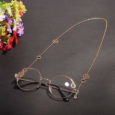 1pc Vintage Steampunk Gear Glasses Chain Goth Unisex Glasses Cosplay Props J02