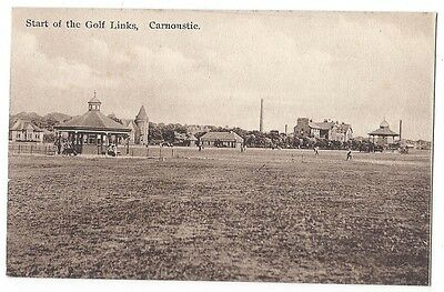CARNOUSTIE Start of the Golf Links, Old Postcard Unused