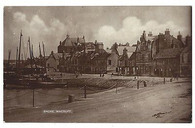 MACDUFF The Shore , RP Postcard by Paterson, Duff Street, Unused