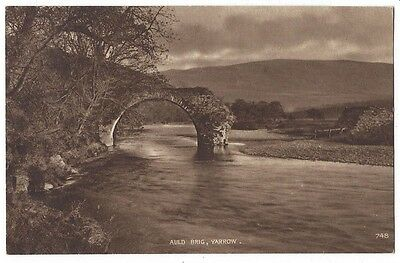 YARROW Selkirkshire, The Auld Brig, Old Postcard by AR Edwards, Unused