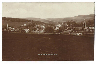 STOW Selkirkshire, View from South West, RP Postcard Postally Used 1917