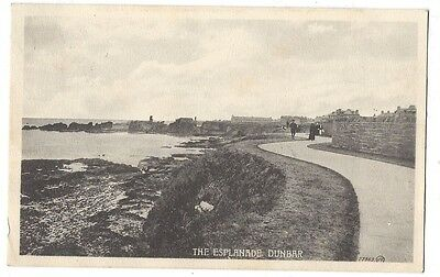 DUNBAR The Esplanade, Old Postcard by Valentine, Postally Used 1916