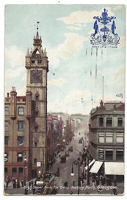 GLASGOW High Street from the Cross Looking North, Postcard Postally Used 1906