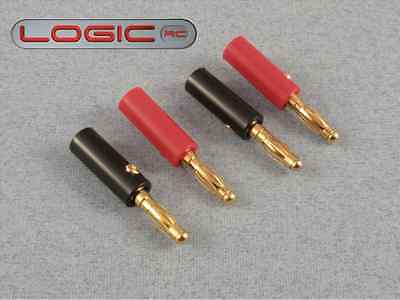 Logic O-FS-BAN04/02 Banana Plugs (4mm Gold) 2 Pairs for RC