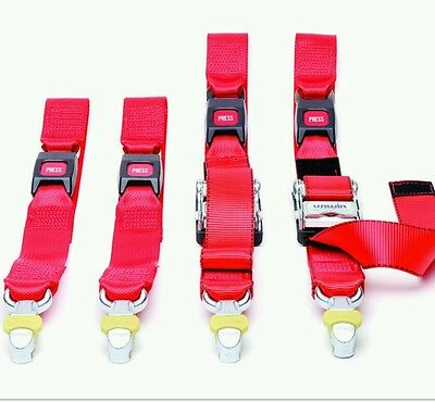 wheelchair restraints four point webbing system with tongue and buckle for unwin