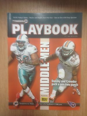 2010 Miami Dolphins v Tennessee Titans - NFL The Finsiders Playbook Vol 45 No 6