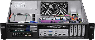 """2U Front Access(400W)(MicroATX)(2x3.5""""+2.5""""HDD)(Rackmount Chassis)(D14"""" Case)NEW"""