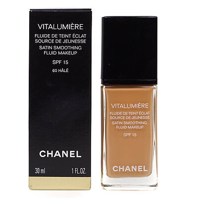 Chanel Vitalumiere Satin Smoothing Fluid Makeup Spf 15 Foundation 60 Hale 30ml