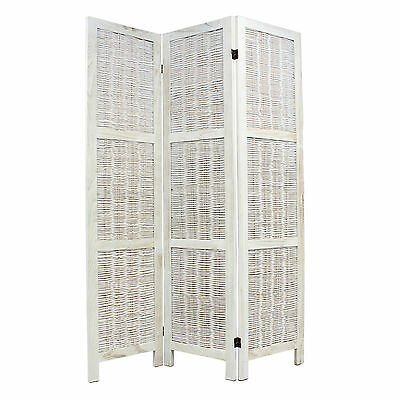 Sale - Wooden Wicker Room Divider Privacy Screen/partition - White Paint #311