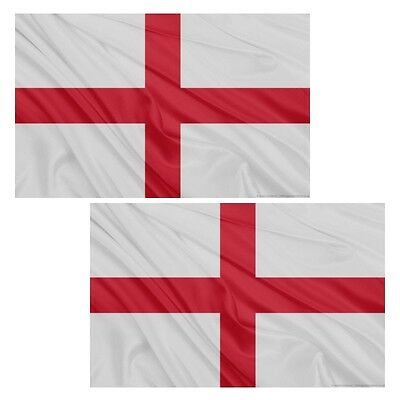 2 X 150Cm X 90Cm 5Ft X 3Ft England St George Flag With Brass Eyelets F77 002
