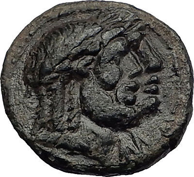 NYSA in LYDIA 200BC Hades Kore Persephone Dionysus Ancient Greek Coin i58273