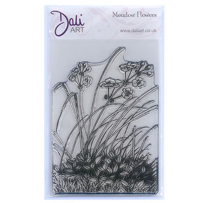 Dali Art A6 Clear Rubber Stamp - Meadow Flowers