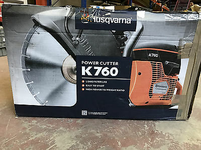 Husqvarna K760 300mm Cut Off Saw Disc Cutter and Diamond Blade (Reconditioned)