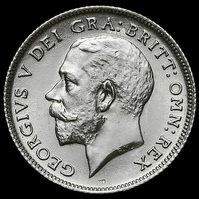1923 George V Silver Sixpence – Rare – UNC #2