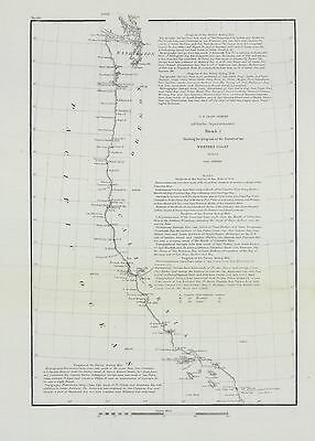 "1856 ""...progress of the Survey of the Western Coast 1849-56."""