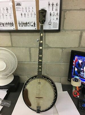 Vintage Global Banjo 5 string Used And Dusty But Nice Condition